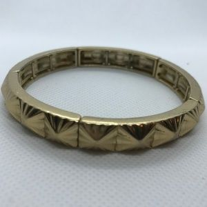"5/$25 Lia Sophia ""Volt"" Matte Gold Stretch Bangle"